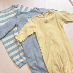 Gender neutral 3 baby gowns/sleepers circo